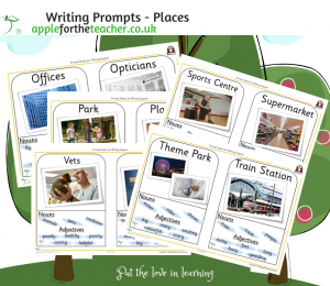 Writing Prompt Sheets Places O to Z SEN KS1.
