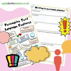 writing to persuade prompts and planner sheets